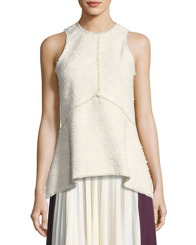 Sleeveless Boucle Top