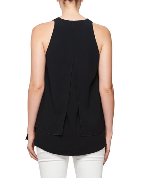 Sleeveless Petal-Hem Top
