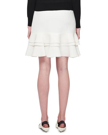 Ruffled Tulip-Hem Mini Skirt