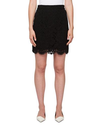 Scalloped Lace Mini Skirt