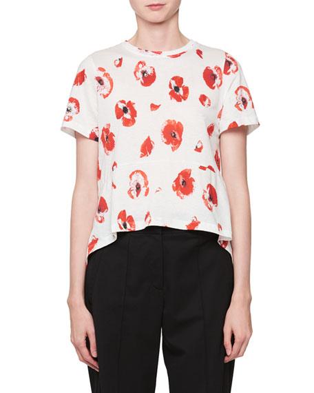 Poppy-Print T-Shirt