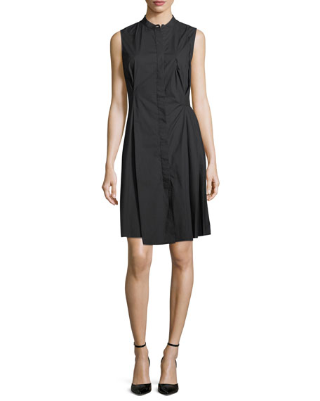 Sleeveless Poplin Shirtdress