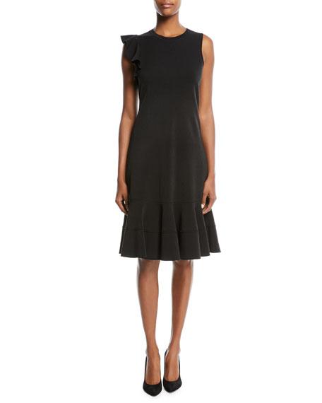 Sleeveless Ruffle-Hem Dress