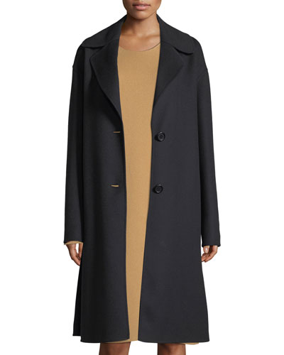 Notch-Collar Opera Coat