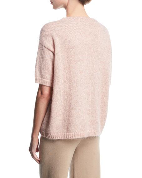 Short-Sleeve Crewneck Sweater