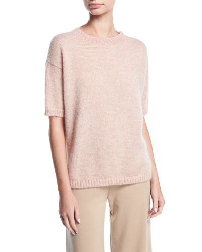 Short-Sleeve Crewneck Sweater