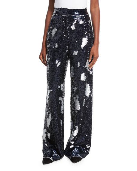 Sequin-Embellished Trousers
