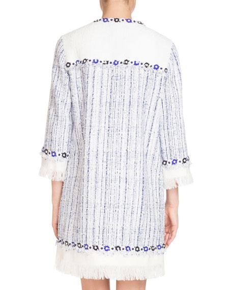 Floral-Embroidered Tweed Jacket
