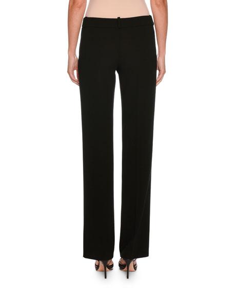 Classic Front-Zip Wool Pants