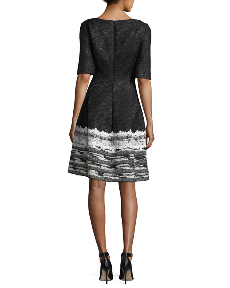 Golo Metallic Tweed Cocktail Dress