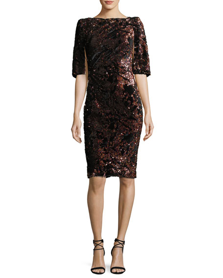 Noroni Sequined Cocktail Dress