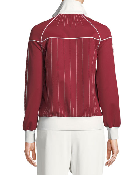 Techno Jersey Zip-Front Track Jacket