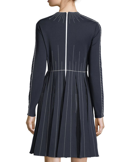 Long-Sleeve Techno Jersey Dress