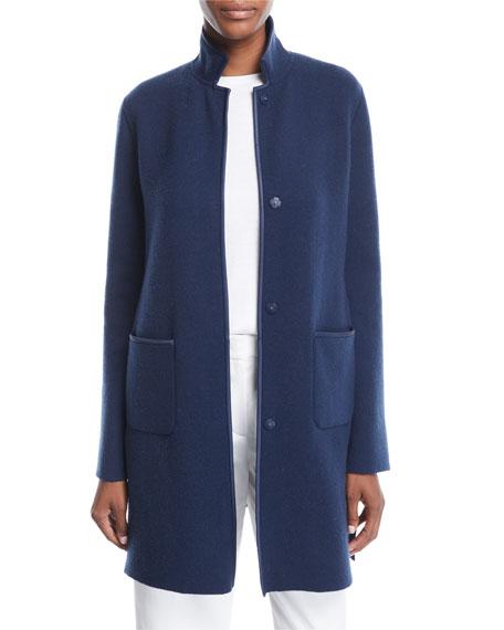Striped Cashmere Coat Cardigan
