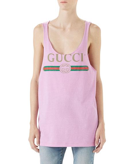 Gucci Logo Cotton Tank Top