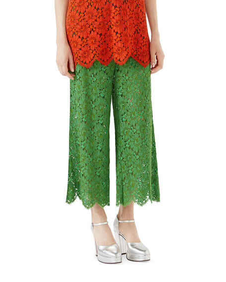 Flower Leaf Rebrode Lace Pants
