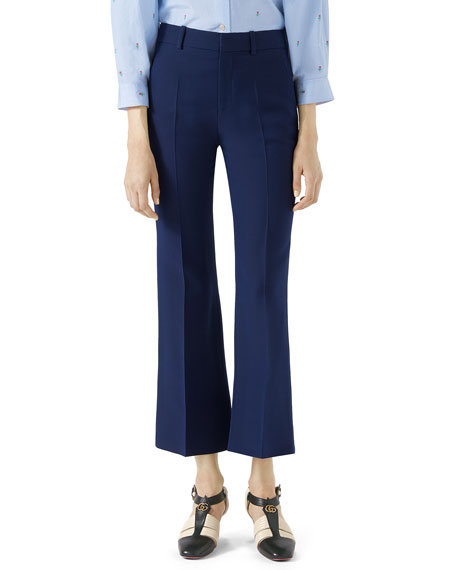 Gucci Cropped Cady Crepe Pants