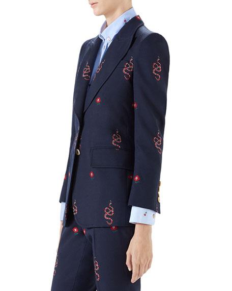 Cotton/Wool Snakes Jacket