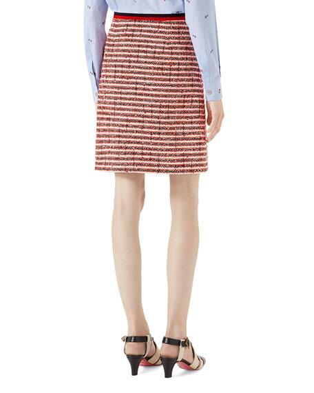 Tweed Skirt with Web