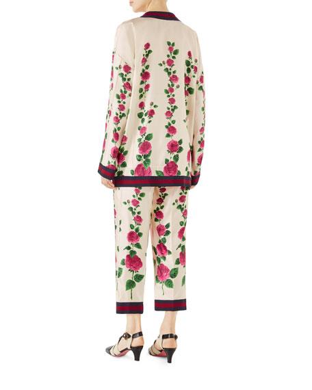 Mini Jardin de Rose Cardigan with Web Detail