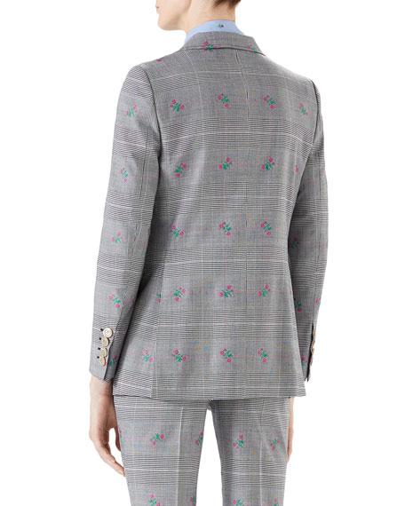 Wool Flower Principe di Galles Jacket