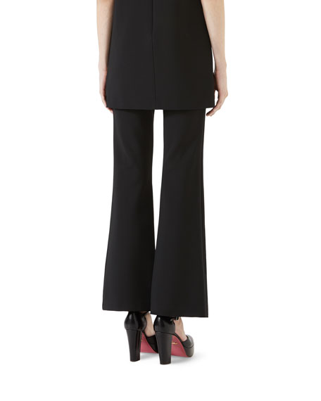 Flared Stretch Jersey Pants