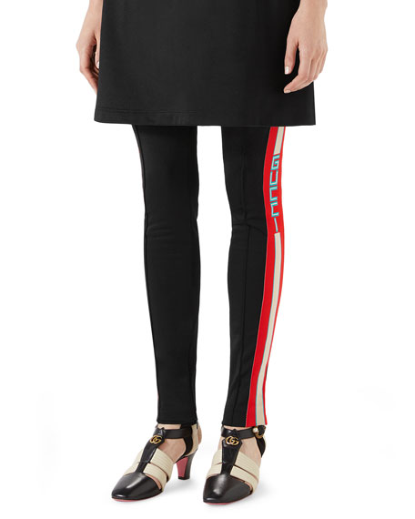 Jersey Stirrup Track Leggings