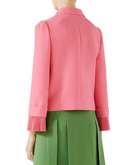 Cady Crepe Wool Jacket