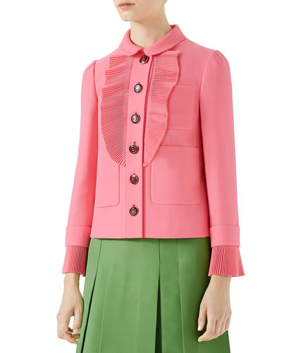 Cady Crepe Wool Jacket