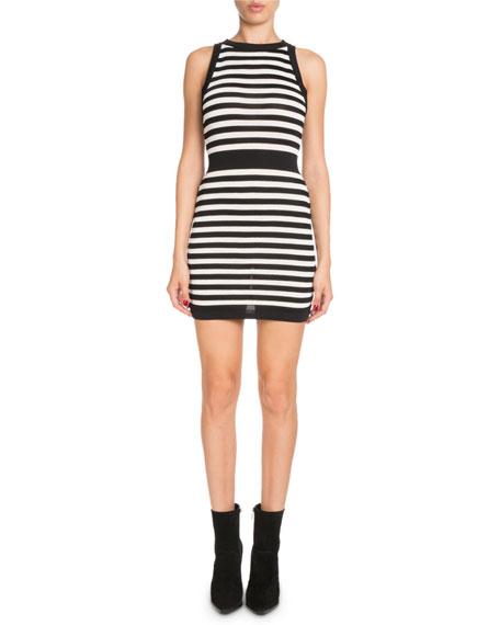 Striped Sleeveless Mini Dress