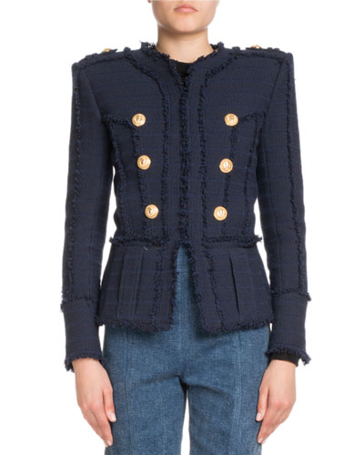 Frayed Tweed Jacket