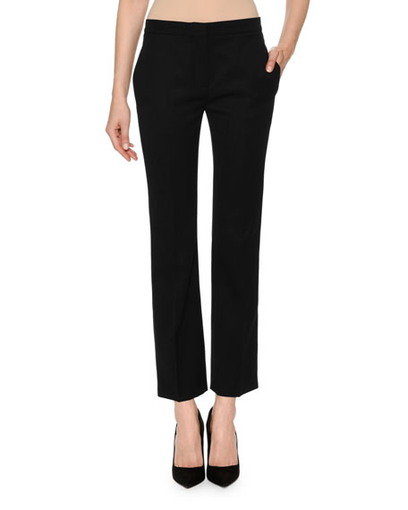 Skinny Cropped Wool Suiting Pants
