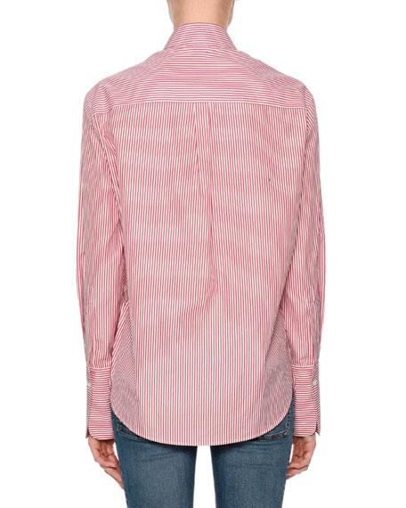 Striped Poplin Button-Down Shirt
