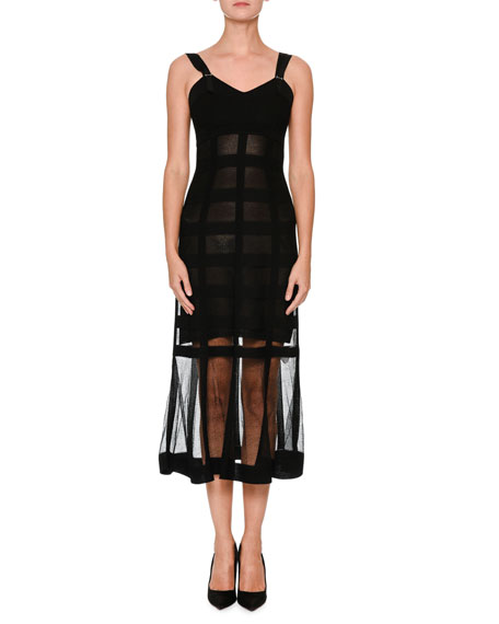 Sleeveless Corset Midi Dress