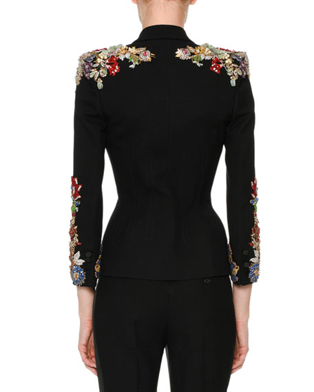 Beaded 3/4-Sleeve Jacket