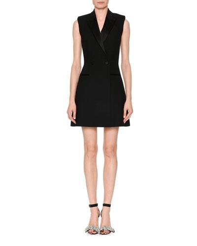 Sleeveless A-Line Tuxedo Dress