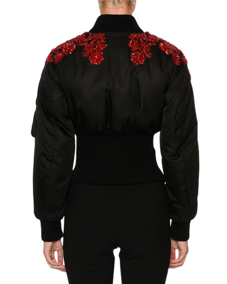 Beaded Bomber Jacket