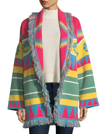 Icon Southwestern Cashmere Wrap Sweater