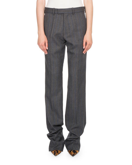Plaid Wool Trousers