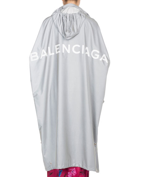 Reflective Long Opera Rain Coat
