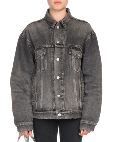 Oversized Denim Logo Jacket