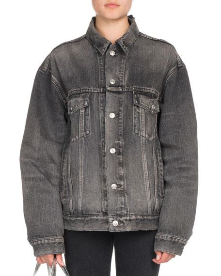 Oversized Denim Logo Jacket