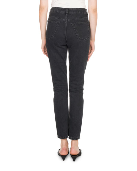 High-Waist Denim Tube Jeans