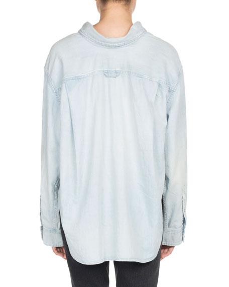 Chambray Swing Collar Shirt