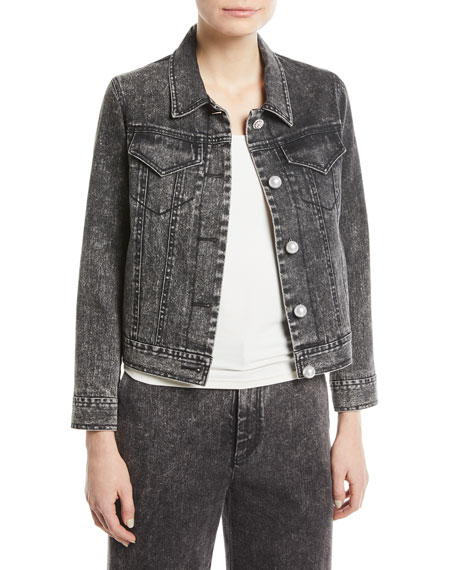 Denim Twill Jacket w/Pearly Buttons