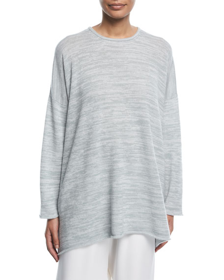 Knit Roll-Edge Cashmere Sweater