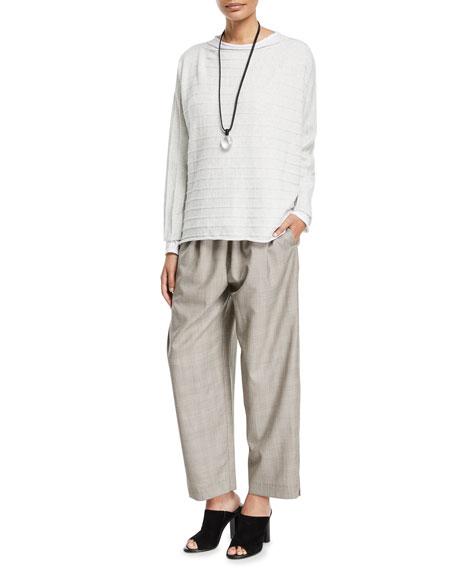 Wool-Silk Japanese Trousers