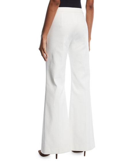 Wide-Leg Stretch-Woven Pants