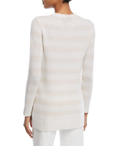 Striped Crewneck Cashmere Sweater