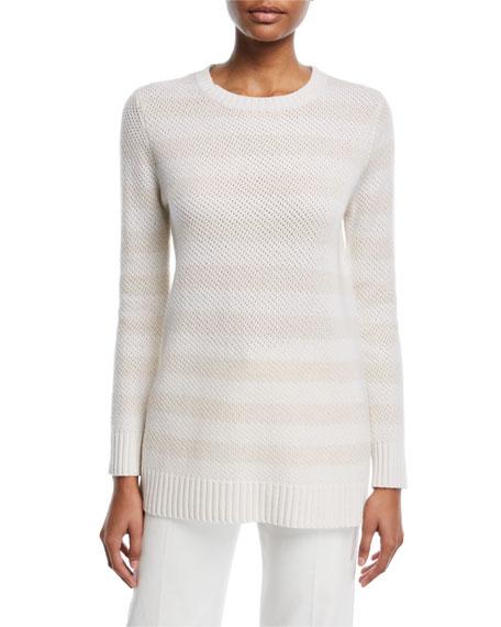 Striped Crewneck Cashmere Sweater